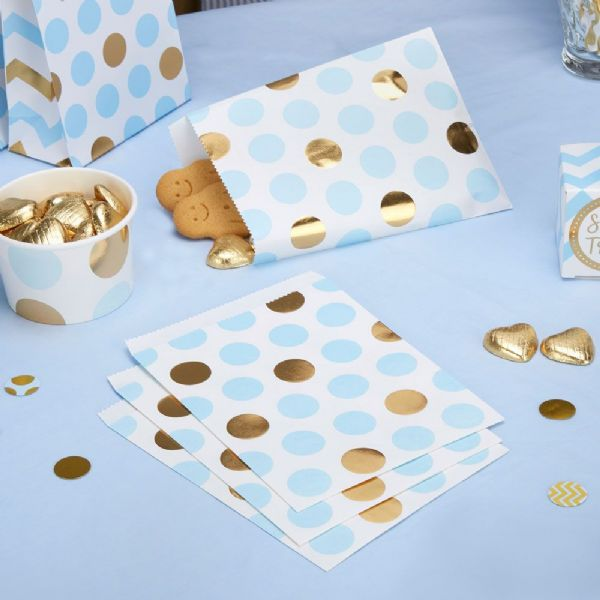 Pattern Works Blue Dots Sweet Bags (25)